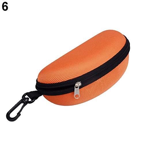 Softmusic Glasses Case,Portable Zipper Eye Glasses Clam Shell Sunglasses Protect Hard Case Box ()