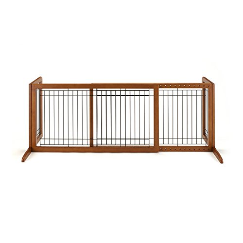 Royal Weave Free-Standing Dog Gate – Mocha