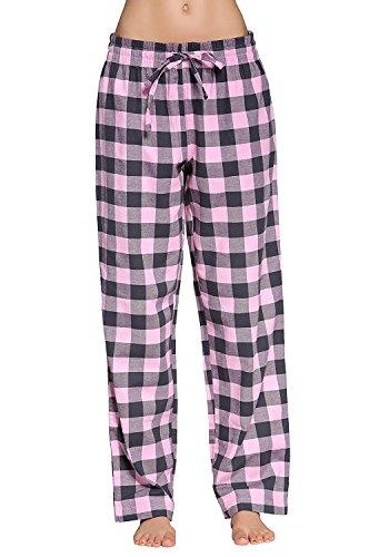 X.Y.X-Eleven Women's 100% Cotton Super Soft Plaid Pajamas,Lounge Pants - Pajama Poplin Cotton