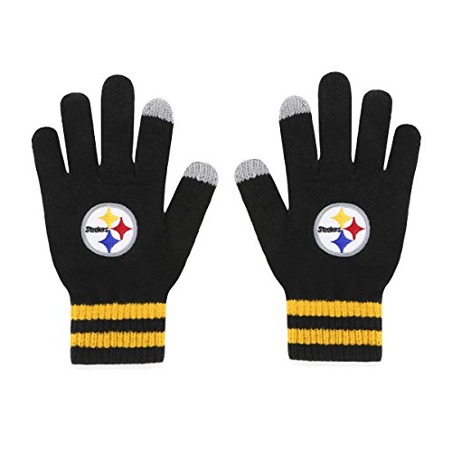 NFL Pittsburgh Steelers Mens Sportsman Touch OTS Glove, Black, Mens