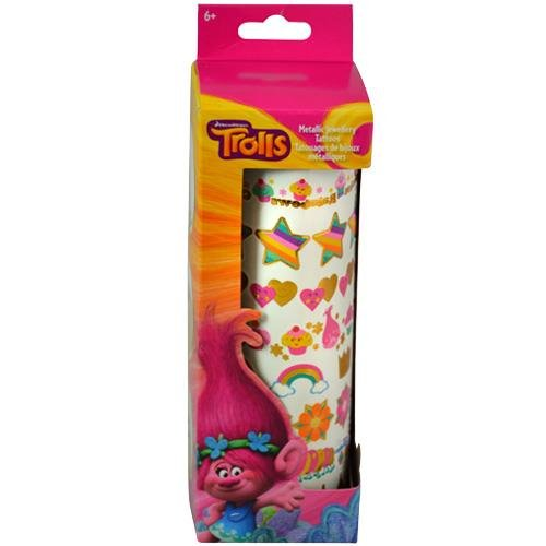 Colorful Trolls Tattoo Stickers Roll in Box