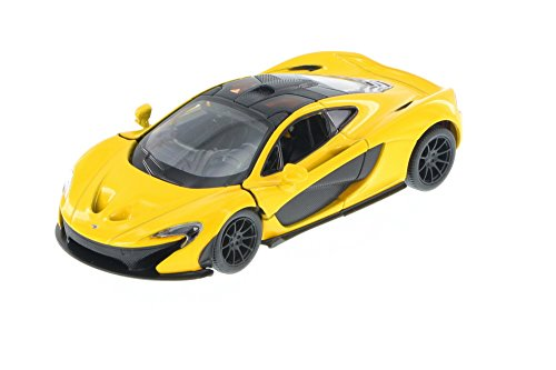 McLaren P1, Yellow - Kinsmart 5393D - 1/36 Scale Diecast Model Toy - Diecast Toy Scale