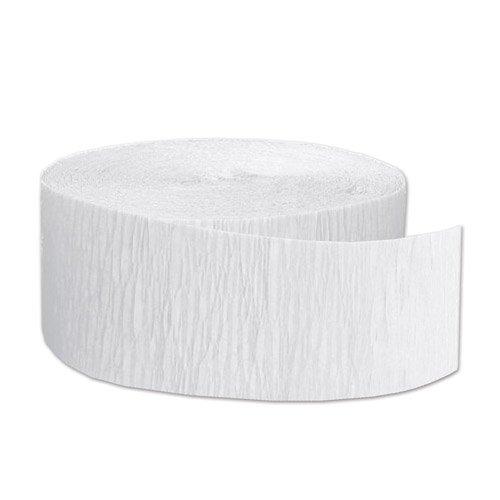 FR Festive Crepe Streamer (white) Party Accessory  (1 count) (1/Pkg) -