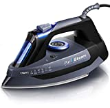 Professional Grade 1700W Steam Iron for Clothes with Rapid Even Heat Scratch Resistant Stainless Steel Sole Plate, True Position Axial Aligned Steam Holes, Self-Cleaning Function: more info
