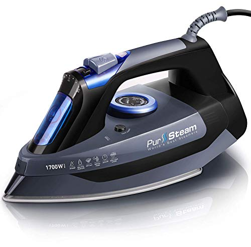 Professional Grade 1700W Steam Iron for Clothes with Rapid Even