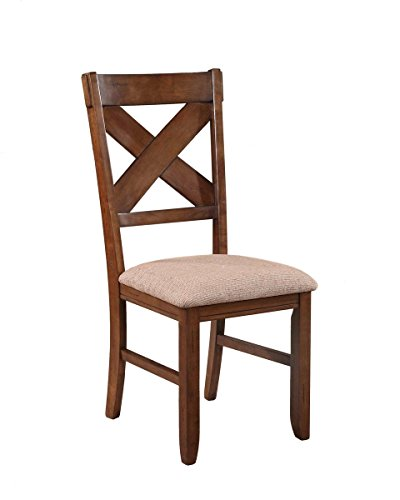 Roundhill Furniture Karven Solid Wood Dining Chairs (Set of 2)