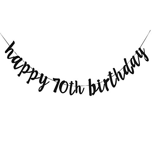 Happy 70th Birthday, 70th Birthday Party Hang Bunting Sign Decorations Photo Props, Party Favors, Supplies, Gifts, Themes and Ideas -
