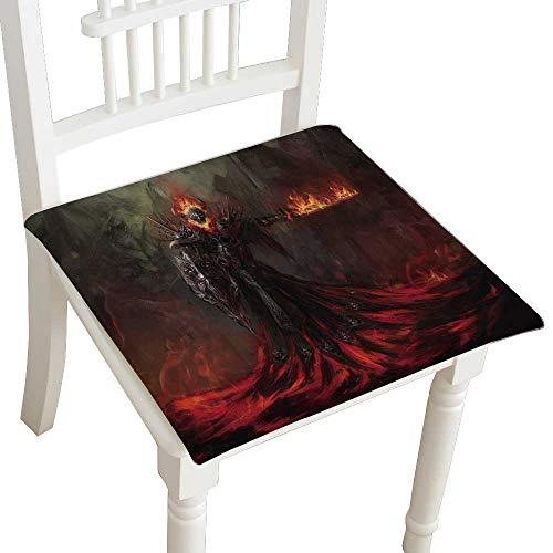 (HuaWuhome Chair Pads Classic Design Portrait of a Devil with Horns Project Cotton Canvas Futon)