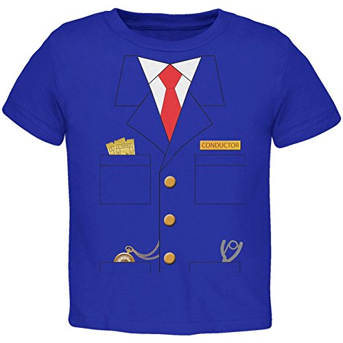 [Halloween Train Conductor Costume Royal Toddler T-Shirt - 2T] (Toddler Conductor Outfit)