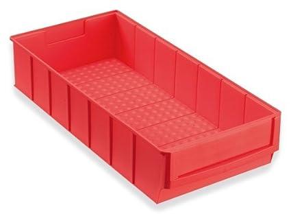 12 Caja industrial rojo 400x183x81 mm Cajas Apilables Cajas Apilables Universales Almacén Plástico Cajas Para Guardar