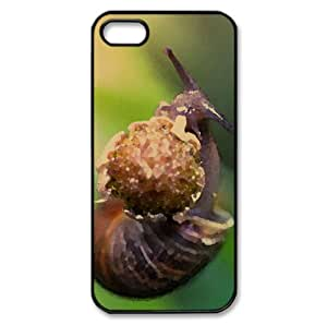 Snail Eating A Flower Watercolor style Cover iPhone 5 and 5S Case (Others Watercolor style Cover iPhone 5 and 5S Case)