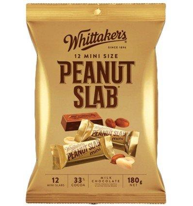 Whittaker's 12 mini size chocolate slab 180g (Made in New Zealand) (Peanut (New Peanuts)