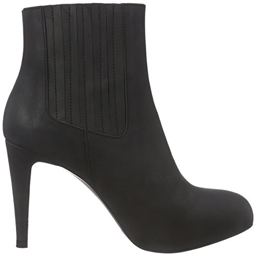 nero Stivaletti Chelsea Mentor Chelsea Donna Leggera Corta Gamba A Ankle Boot Nero Mod Nabuk Imbottitura qO5t5