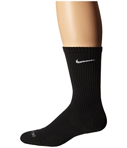 Nike Women's Dri-Fit Cushion Crew 3-Pair Pack (Medium, Black/White) - Womens Black Nike Athletic Socks