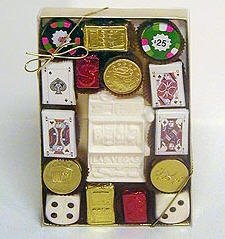 Chocolate Casino Gift Box - Large - Case of 3 Gift Boxes (Chocolate D And D Dice compare prices)