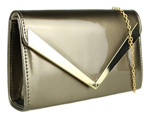 para Sintético Gris Cartera Girly Handbags mujer de de mano Material x4pYvw0qY