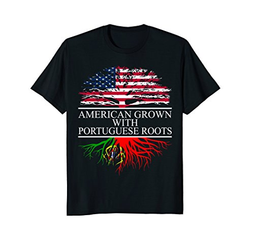 Portugal Flag T-shirt - Portuguese Roots, American Grown, Flag of Portugal T-Shirt