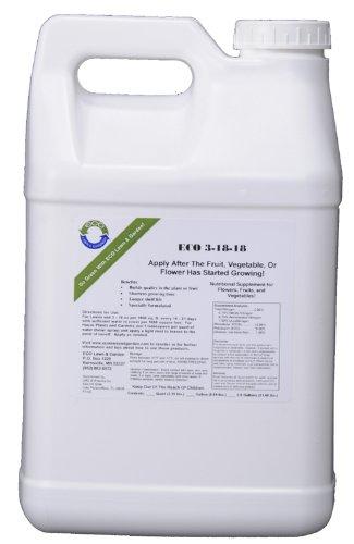 Natural Liquid Nitrogen Phosphorous Potash Fertilizer 3-18-18 NPK 2.5 Gallon