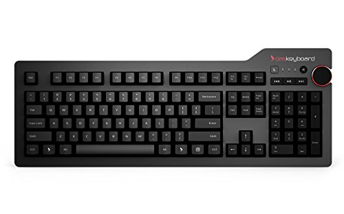 Das Keyboard 4 Professional Soft Tactile MX Brown Mechanical Keyboard (DASK4MKPROSIL) by Das Keyboard
