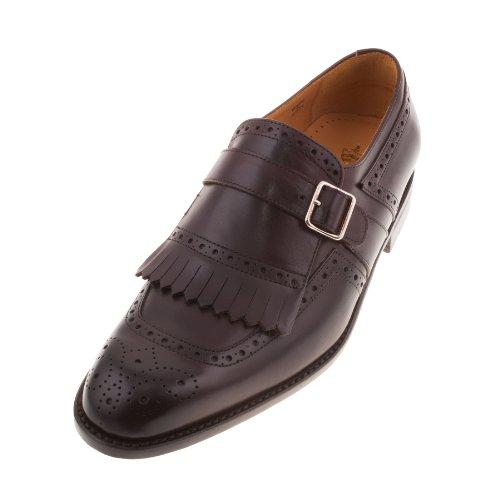 John Spencer 10911 603 da uomo, colore: Marrone scuro, prima parte Bucklet-Scarpe Brogue da uomo, in pelle Marrone (marrone)