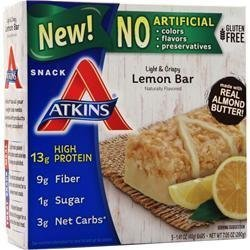 Atkins Snack Light Crispy Lemon bar, 5 Little Bars (Pack of 2) by Atkins Snack Light