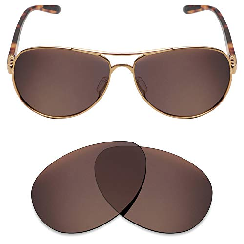 Mryok Polarized Replacement Lenses for Oakley Feedback - Bronze Brown