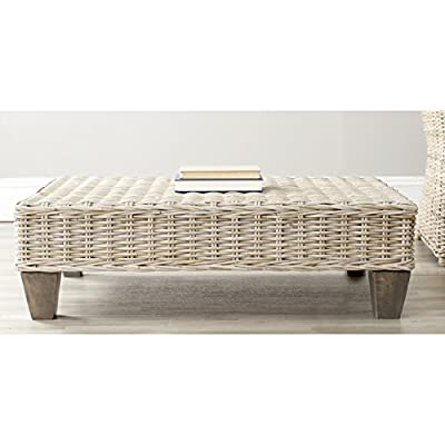 Safavieh Home Collection Leary Wicker Bench, Washed Natural - This bench features a washed natural finish This bench is perfect for use as a seat or as an accent for any room Crafted of solid rattan made of mango wood - entryway-furniture-decor, entryway-laundry-room, benches - 41%2BxDBe0K5L. SS400  -