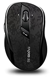 Arion Rapoo 7100P 5.8GHz Wireless Optical Mouse With 4D Scroll Wheel Programmable Buttons - Black