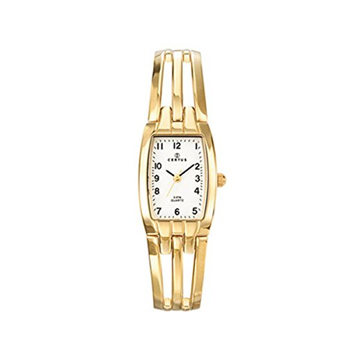 Certus Paris Women's 631473 Tonneau Gold Tone Brass Bracelet White Dial Watch (Tonneau White Bracelet)