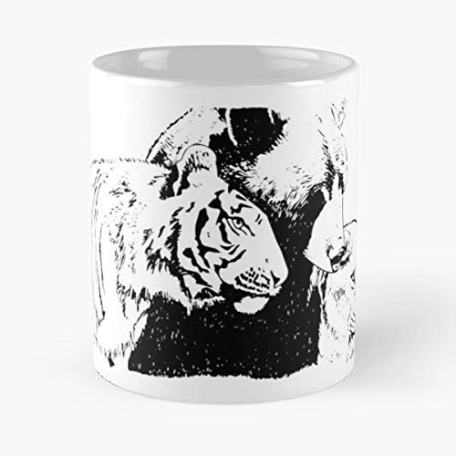 (Lion Lions Tiger Tigers - Best Gift Ceramic Coffee Mugs)