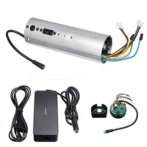 BBTshop Bluetooth Circuit Board & Control Dashboard & Charger for Ninebot Es1 Es2 Es3 Es4 Electric Scooter Accessories (3PC) (Board Bluetooth Circuit)