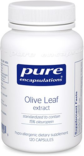 Pure Encapsulations - Olive Leaf Extract - Hypoallergenic Supplement Supports Immune System and Healthy Intestinal Environment* - 120 Capsules by Pure Encapsulations