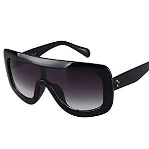 Oversized Celebrity Kim Kardashian Women Sunglasses Sexy Sun (Black, Black)