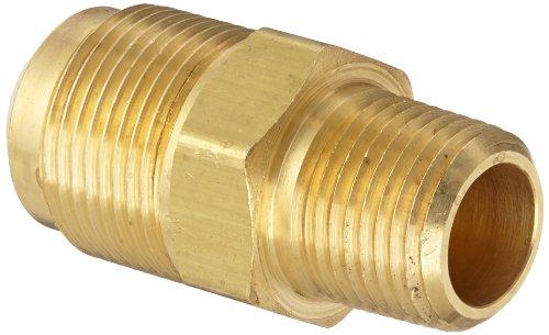 Eaton Weatherhead 48X12 Brass CA360 SAE 45 Degree Flare, Adapter, 3/8