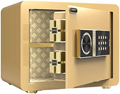 Caja fuerte Cajas de caudales Digital Password Safe Home pequeña Caja de Seguridad Seguridad del Arma Efectivo Oficina joyería Burglarproof Mini (Color : Brass, Size ...