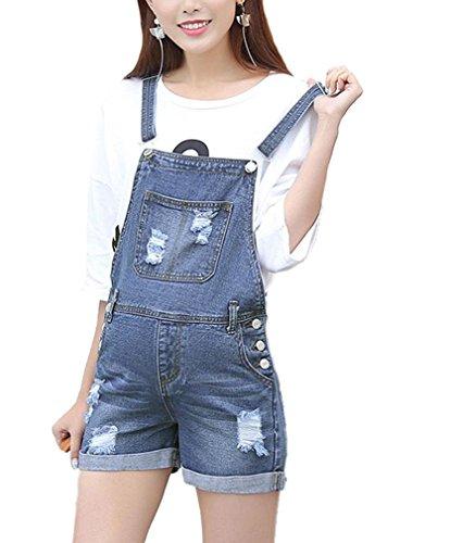 - LIREROJE Women Soft Denim Maternity Bib Overalls Pregnancy Jeans Romper Shortalls Adjustable Jumpsuit Fit Belly Pants L