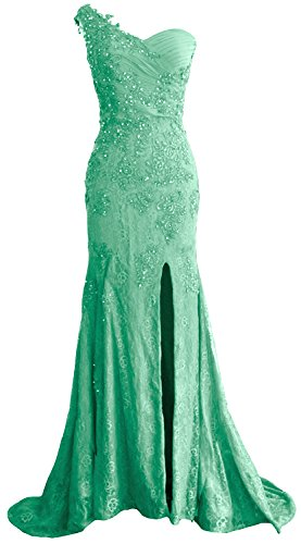 Formal One Shoulder Lace Mermaid MACloth Prom Evening Long Gown Dress Women Minze wHSE55q8x