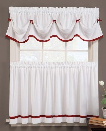 naturally home Kate Elegance Kitchen Curtain Set - Valance (58