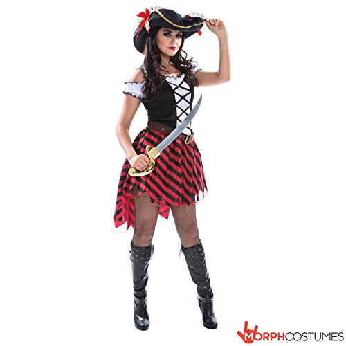 Wench Fancy Dress Costumes Uk (Womens Pirate Wench Costume Costume, Large)