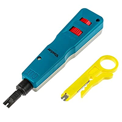 Vastar® Network Wire Punch Down Impact Tool with Two Blades-110 and BK & Wire Stripper