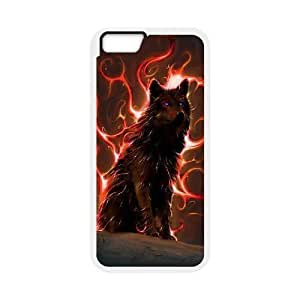 """Custom Colorful Case for Iphone6 Plus 5.5"""", Wolf Cover Case - HL-R665777"""