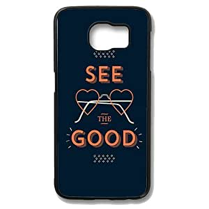 Samsung Galaxy S6 Edge Case - See The Good Slim Bumper Case with Soft Flexible TPU Material for Samsung Galaxy S6 Edge Black