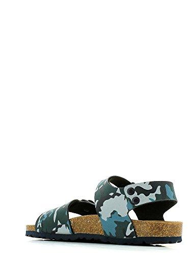 Grünland LUZ SB0115 azul militares 24/30 hebillas sandalias del bebé Birk Blu