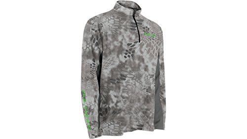 Huk Men's Kryptek Icon 1/4 Zip Shirt, Camo, Large