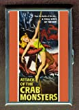 Attack Of The Crab Monsters 1957 Double-Sided Cigarette Case, ID Holder, Wallet with RFID Theft Protection