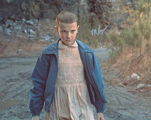 MILLIE BOBBY BROWN as Eleven - Stranger Things GENUINE AUTOGRAPH