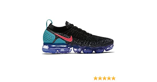 the latest 9bbd4 7c0d8 Amazon.com   NIKE Air Vapormax Flyknit 2 Womens Running Shoes (7 B(M) US,  Black Hot Punch-White-Dusty Cactus)   Road Running