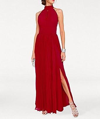 bc6c489a75bb64 Heine Damen Chiffon-Abendkleid, rot, Größe:44: Amazon.de: Bekleidung