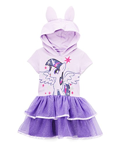 My Little Pony Twilight Sparkle Toddler Girls' Costume Ruffle Dress, Lilac, 3T -