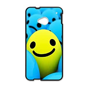 Smiley face HTC One M7 Cell Phone Case Black I0496294